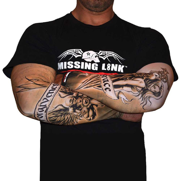 Missing Link SPF 50 Grace and Forgiveness ArmPro Tattoo Compression Sleeves APGF - Wisconsin Harley-Davidson