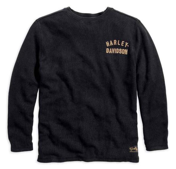 Harley-Davidson Men's Shirt, #1 Winged Long Sleeve Shirt, Black 99028-15VM - Wisconsin Harley-Davidson