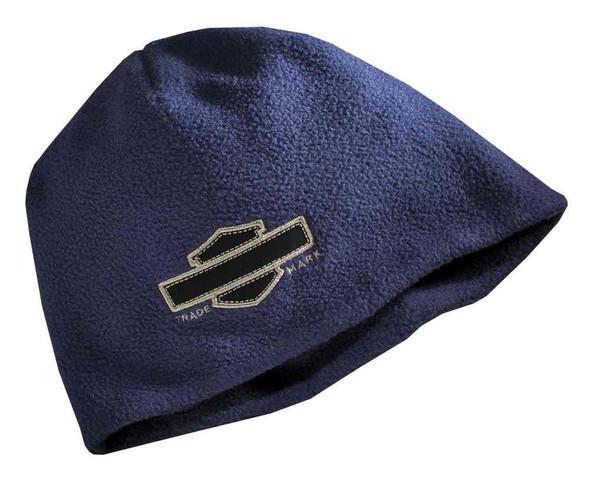 Harley-Davidson Men's Embroidered Bar & Shield Fleece Beanie Hat 97646-16VM - Wisconsin Harley-Davidson