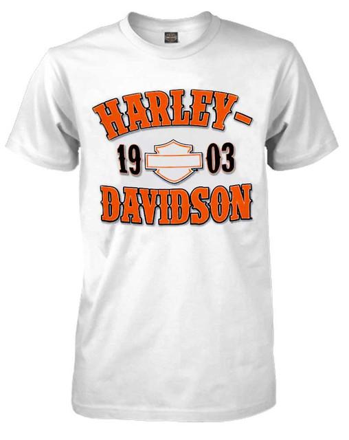Harley-Davidson Men's T-Shirt, Traditional H-D Short Sleeve Tee, White 30291790 - Wisconsin Harley-Davidson