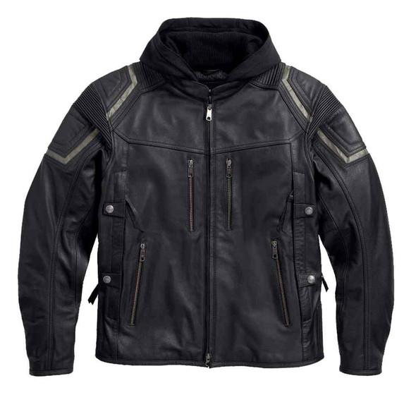 Harley-Davidson Men's Triple Vent System Combustion Leather Jacket 97093-16VM - Wisconsin Harley-Davidson