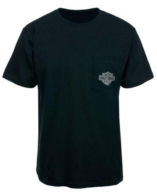 Harley-Davidson Screamin' Eagle Men's Carbon Skull Pocket T-Shirt HARLMT0188 - Wisconsin Harley-Davidson