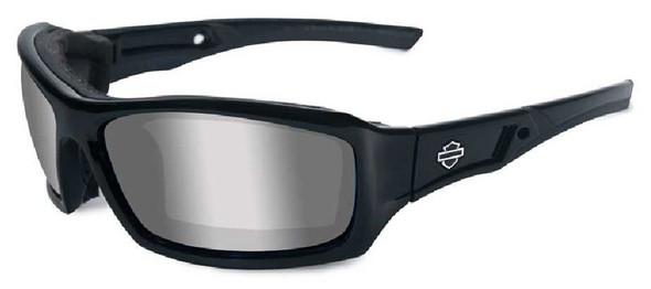 Harley-Davidson Echo Silver Lens w/ Gloss Black Frame Sunglasses HDECH02 - Wisconsin Harley-Davidson
