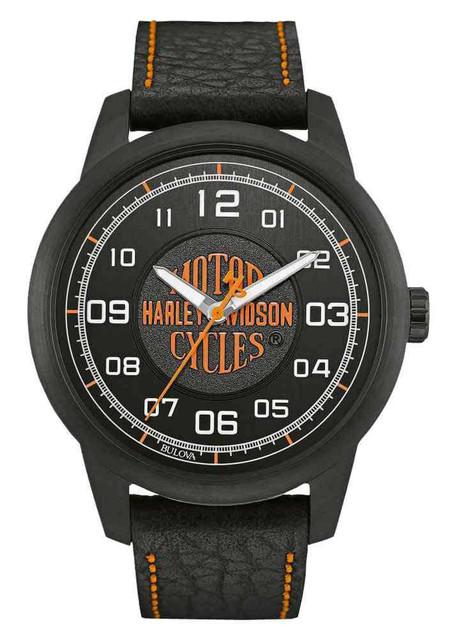 Harley-Davidson Men's Bar & Shield Script Watch, Stainless Steel, Black 78A116 - Wisconsin Harley-Davidson