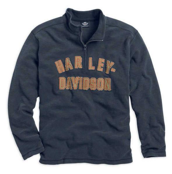 Harley-Davidson Men's Genuine Classics 1/4-Zip Long Sleeve Shirt 99000-14VM - Wisconsin Harley-Davidson