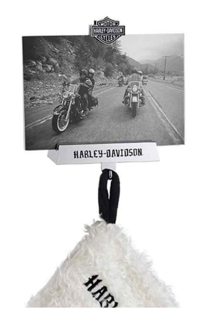 Harley-Davidson Bar & Shield Photo Frame Fireplace Stocking Holder, 96818-16V - Wisconsin Harley-Davidson