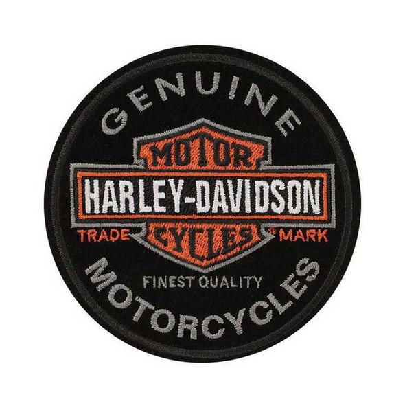 Harley-Davidson Emblem, Long Bar & Shield, Small Size Patch EM312642 - Wisconsin Harley-Davidson