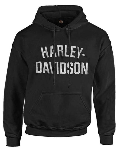 Harley-Davidson Men's Heritage Pullover Hooded Sweatshirt Black Hoodie 30296635 - Wisconsin Harley-Davidson