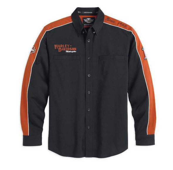 Harley-Davidson Men's Prestige Long Sleeve Woven Shirt 99073-13VM - Wisconsin Harley-Davidson
