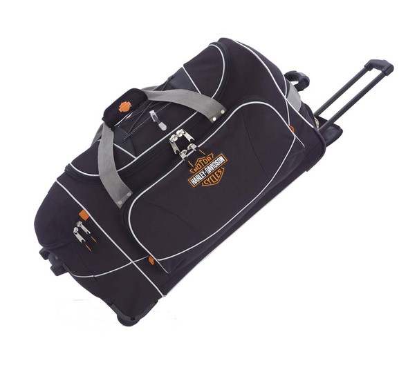 Harley-Davidson Hybrid Luggage 29'' Travel Equipment Duffel, Black 99629-BLK - Wisconsin Harley-Davidson