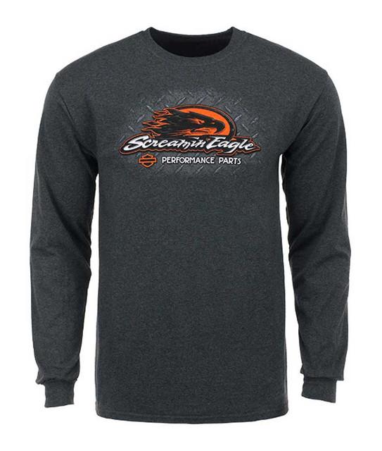 Harley-Davidson Men's Screamin' Eagle Shirt, Finish Line Long Sleeve HARLMT0224 - Wisconsin Harley-Davidson