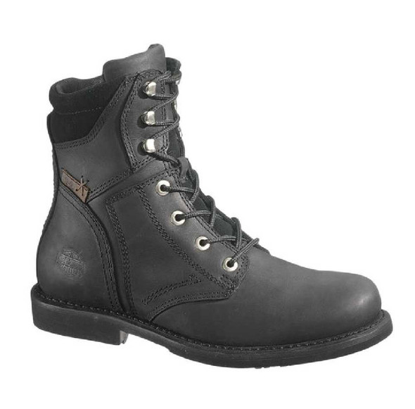 Harley-Davidson Men's Darnel Black Leather Motorcycle Boots, Speed-Lace D94284 - Wisconsin Harley-Davidson