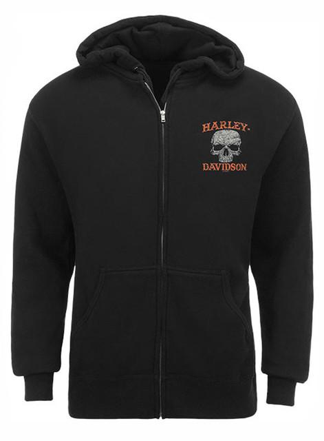 Harley-Davidson Men's Screamin' Eagle Sweatshirt, Skull Zipper Black HARLMS0061 - Wisconsin Harley-Davidson