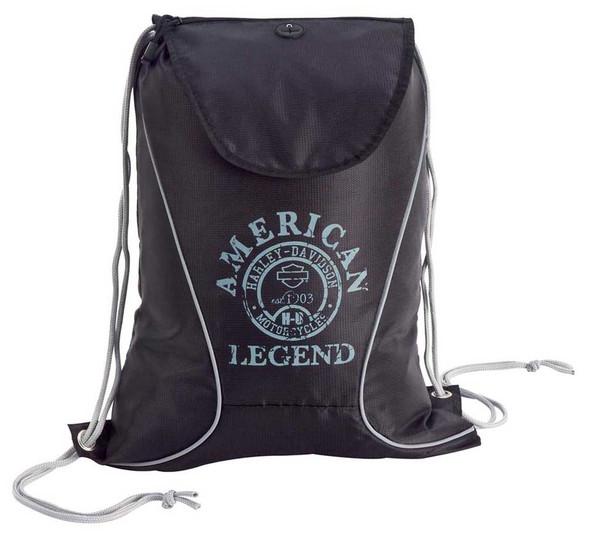 Harley-Davidson Black Sling Backpack 99667-BLK/BLK - Wisconsin Harley-Davidson