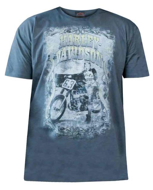 Harley-Davidson Men's Short Sleeve T-Shirt, Vintage Glory Poster Graphic, Gray - Wisconsin Harley-Davidson