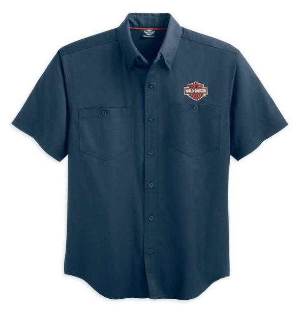 Harley-Davidson Men's Performance Flames Woven Shirt S/S 99070-12VM - Wisconsin Harley-Davidson