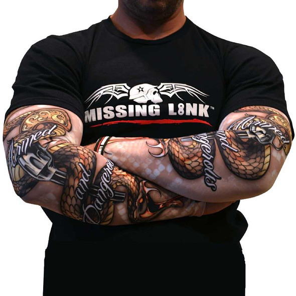 Missing Link SPF 50 Armed and Dangerous ArmPro Compression Sleeves - APAD - Wisconsin Harley-Davidson