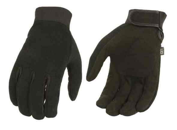 Milwaukee Leather Men's Mechanic Full-Finger Gloves, Padded Gel Palm SH44612 - Wisconsin Harley-Davidson