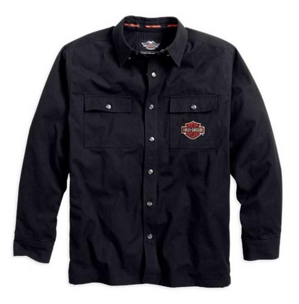 Harley-Davidson Men's Bar & Shield Flames Shirt Jacket 99088-14VM - Wisconsin Harley-Davidson