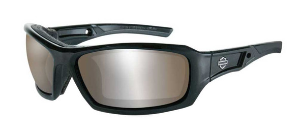 Harley-Davidson Men's Echo Sunglasses, Copper Lens / Gloss Black Frame HDECH09 - Wisconsin Harley-Davidson