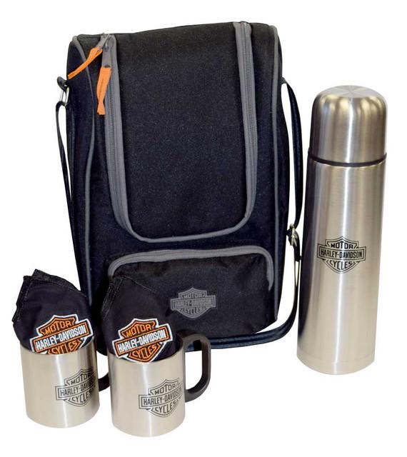 Harley-Davidson Coffee Tote, Bar & Shield Logo Cooler Tote, Black 437-24 - Wisconsin Harley-Davidson