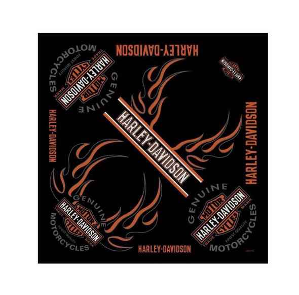 Harley-Davidson Men's Bandana, Long Bar & Shield Black Head Wrap BA31266 - Wisconsin Harley-Davidson