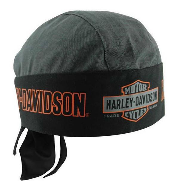 Harley-Davidson Nostalgic Bar & Shield Head Wrap Gray/Black HW31380 - Wisconsin Harley-Davidson