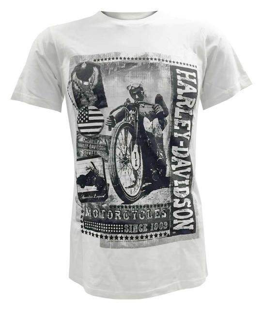Harley-Davidson Men's Short Sleeve Lightweight Tee, Vintage Time Capsule, White - Wisconsin Harley-Davidson