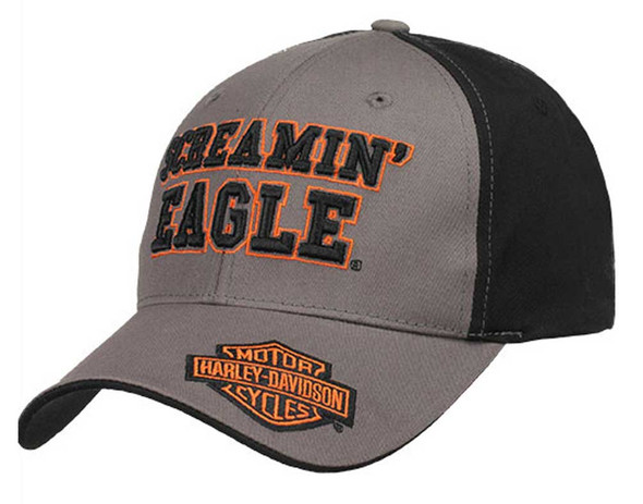 Harley-Davidson Mens Screamin' Eagle Finisher Baseball Cap Flex Fit HARLMH0262 - Wisconsin Harley-Davidson