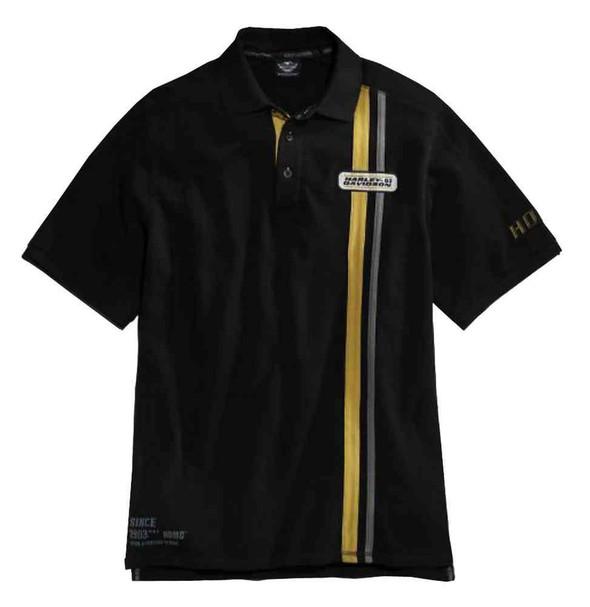 Harley-Davidson Men's Century Strong Short Sleeve Knit Polo Shirt 96452-15VM - Wisconsin Harley-Davidson