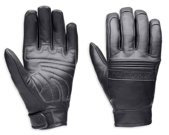 Harley-Davidson Men's Tailgater Full-Finger Leather Gloves 98304-14VM - Wisconsin Harley-Davidson