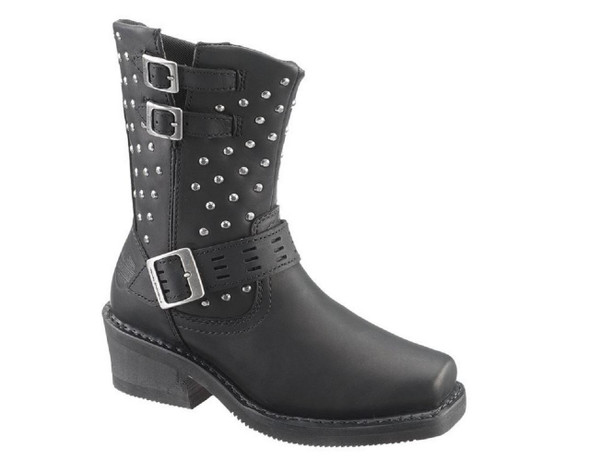 Harley-Davidson Women's Shirley 8-In Black or Brown Leather Boots. D83714 D83715 - Wisconsin Harley-Davidson