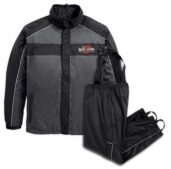 Harley-Davidson Men's Roadway Rain Suit Gray & Black 98239-13VM - Wisconsin Harley-Davidson