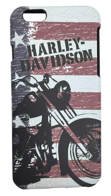 Harley-Davidson Men's iPhone 6 Shell, Motorcycle American Flag TPU Case 07721 - Wisconsin Harley-Davidson