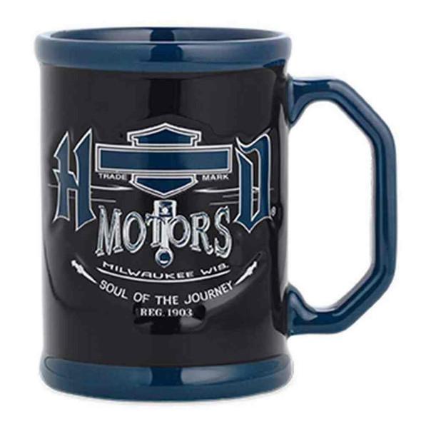 Harley-Davidson Soul of the Journey Coffee Mug 14.5 oz., Black/Blue. 96813-16V - Wisconsin Harley-Davidson