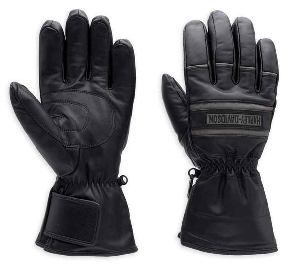 Harley-Davidson Men's Illumination Gauntlet Leather Gloves 98213-13VM - Wisconsin Harley-Davidson