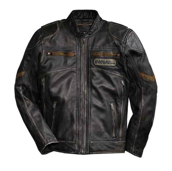 Harley-Davidson Men's Triple Vent System Drexel Leather Jacket 97046-15VM - Wisconsin Harley-Davidson