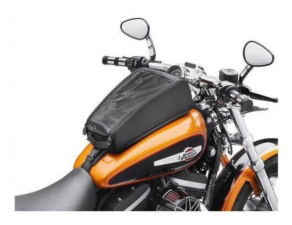 Harley-Davidson Zippered Tank Bag - Sportster Fuel Tank Black Nylon 93300040 - Wisconsin Harley-Davidson