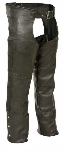 Milwaukee Leather Men's Basic Coin Pocket Leather Chaps SH1115 - Wisconsin Harley-Davidson
