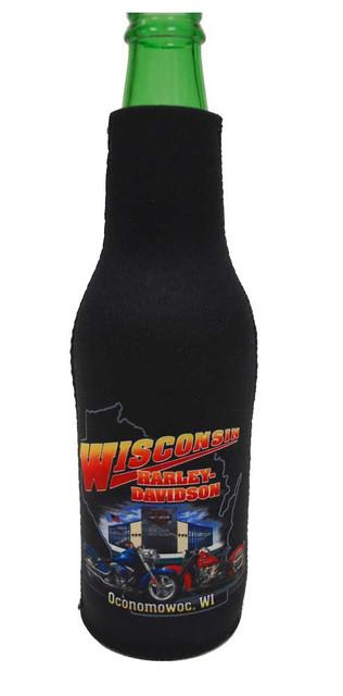Harley-Davidson Wisconsin Harley Custom Bottle Wrap Cooler and Insulator BOTTLE - Wisconsin Harley-Davidson