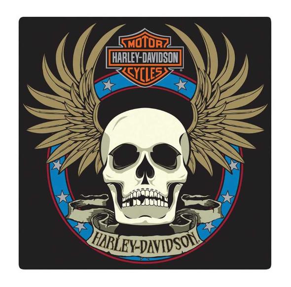 Harley-Davidson Embossed Spade Winged Skull Tin Sign, 14.5 x 14.5 inch 2010751 - Wisconsin Harley-Davidson