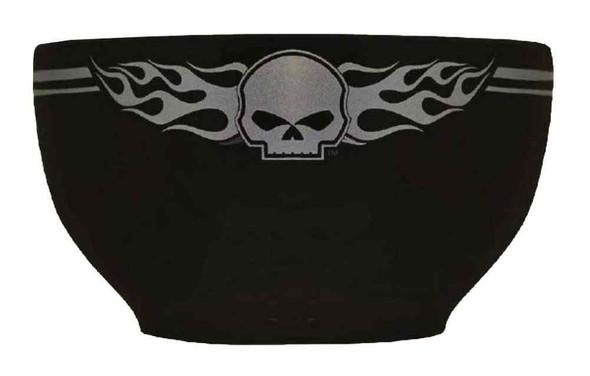 Harley-Davidson Flaming Willie G Skull Logo Ceramic Bowl, Black HD-HD-905 - Wisconsin Harley-Davidson