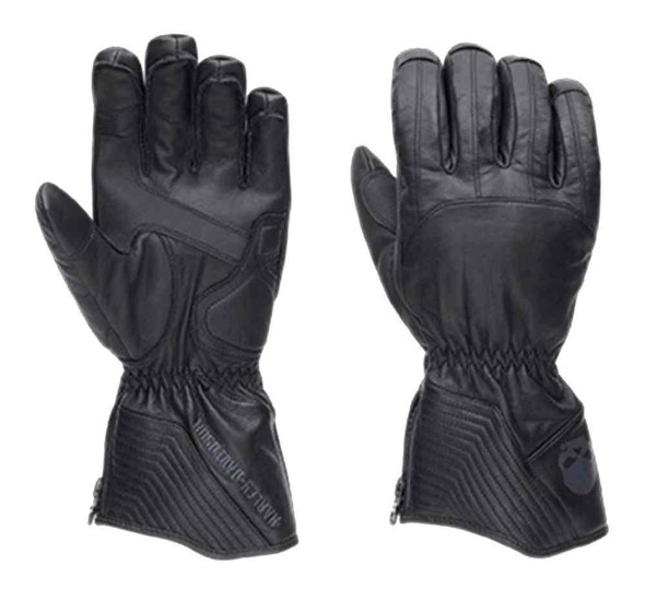 Harley-Davidson Men's Insulated Willie G Skull Gauntlet Gloves, Black 97330-16VM - Wisconsin Harley-Davidson