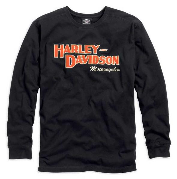 Harley-Davidson Men's Prestige Long Sleeve Tee Black 99089-14VM - Wisconsin Harley-Davidson