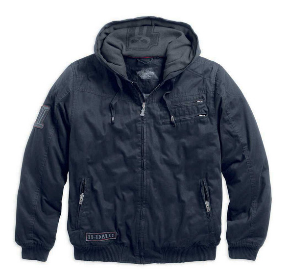 Harley-Davidson Men's Machine Bolt Hooded Jacket 98551-14VM - Wisconsin Harley-Davidson