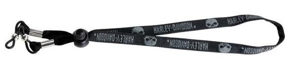 Harley-Davidson Men's Croakie, Gray Willie G. Skulls Glasses Cord HDL SKULL - Wisconsin Harley-Davidson