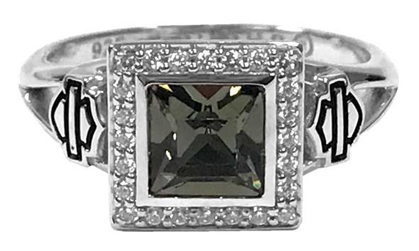 Harley-Davidson Women's Ring, Black Ice Crystal Outline Bling Ring HDR0362 - Wisconsin Harley-Davidson