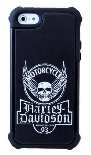 Harley-Davidson Heavy Duty Rugged iPhone 5/5s Shell Distressed Skull Black 07615 - Wisconsin Harley-Davidson