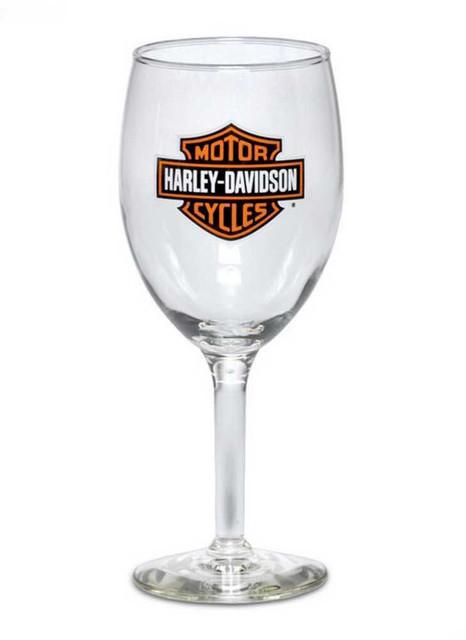 Harley-Davidson Bar & Shield Logo Wine Glass 18.5 oz Barware Glassware 99310-13V - Wisconsin Harley-Davidson