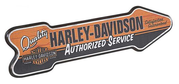 Harley-Davidson Custom-Cut Authorized Service Arrow Retro Pub Sign HDL-15303 - Wisconsin Harley-Davidson